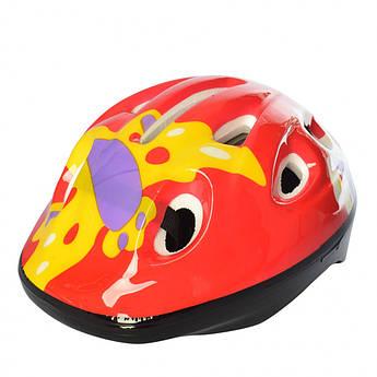 Детский шлем MS 1955 для катания на велосипеде (Красно-желтый)