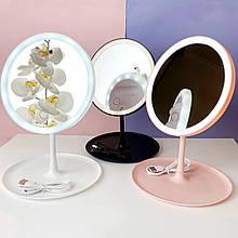 Кругле косметичне дзеркало з підсвіткою