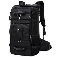 Дорожная сумка рюкзак мужская для путешествий с чехлом от дождя