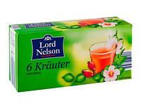 Чай в пакетиках Lord Nelson 6 Krauter (25 шт.)
