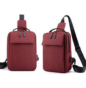 Барсетка сумка USB слинг на грудь мессенджер для через плечо Унисекс ОПТ