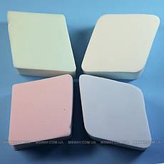 Parisa Спонж C-06 латекс мягкие ромбики цветные 4шт, фото 3
