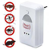 Отпугиватель грызунов и насекомых ультразвуковой Pest Reject от мышей тараканов, пауков Гарантия 12 мес