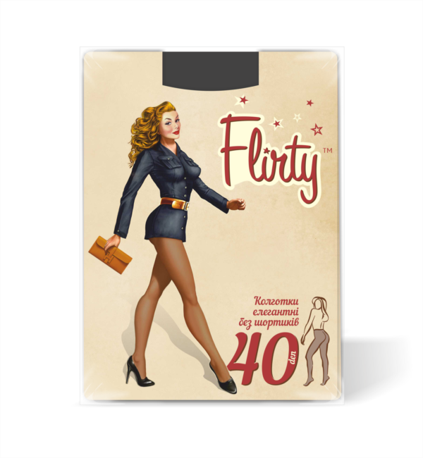 Колготки Flirty флирти женские элегантные без шортиков 40 den размер 5