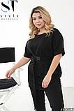 Летний прогулочный костюм женский Двунитка турецкая Размер 48 50 52 54 56 58 60 62 В наличии 4 цвета, фото 3