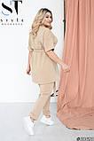 Летний прогулочный костюм женский Двунитка турецкая Размер 48 50 52 54 56 58 60 62 В наличии 4 цвета, фото 8