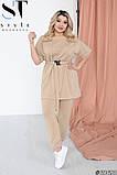 Летний прогулочный костюм женский Двунитка турецкая Размер 48 50 52 54 56 58 60 62 В наличии 4 цвета, фото 6