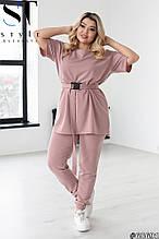 Летний прогулочный костюм женский Двунитка турецкая Размер 48 50 52 54 56 58 60 62 В наличии 4 цвета