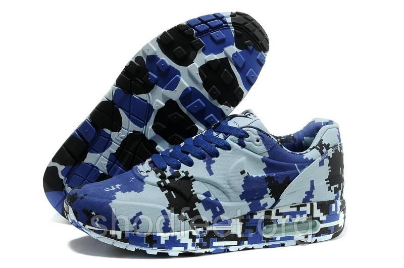 Женские кроссовки Nike Air Max 90 Camouflage Blue
