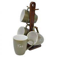 Набор чашек чайных Nature 5 предметов Krauff