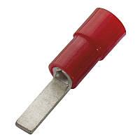 Кабельный наконечник (0.5-1.0) плоский штифт с изоляцией (100 шт) (Haupa) 260330