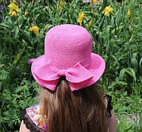 Вязаная панамка с бантом для девочки. Подробный МК