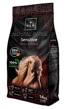 Корм для дорослих собак Rex (Рекс) Natural Range Сенситів лосось з картоплею, 14 кг