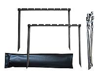 Мангал рамка разборный с чехлом и шампурами в комплекте
