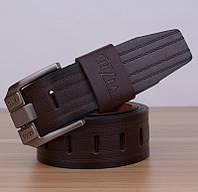 Стильный мужской кожаный ремень. Модель 04146, фото 3
