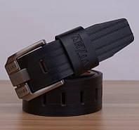 Стильный мужской кожаный ремень. Модель 04146, фото 4