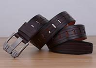 Стильный мужской кожаный ремень. Модель 04146, фото 5