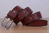 Стильный мужской кожаный ремень. Модель 04146, фото 6