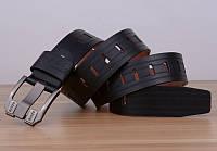 Стильный мужской кожаный ремень. Модель 04146, фото 7