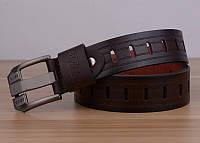 Стильный мужской кожаный ремень. Модель 04146, фото 8