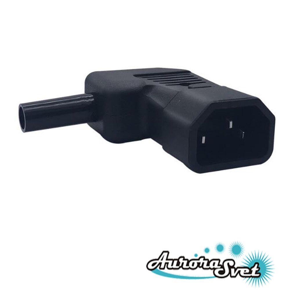 90 градусів кабельний роз'єм змінного струму 250 Ст. 10 А для штекерного шнура живлення