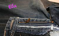 Замена молнии в брюках