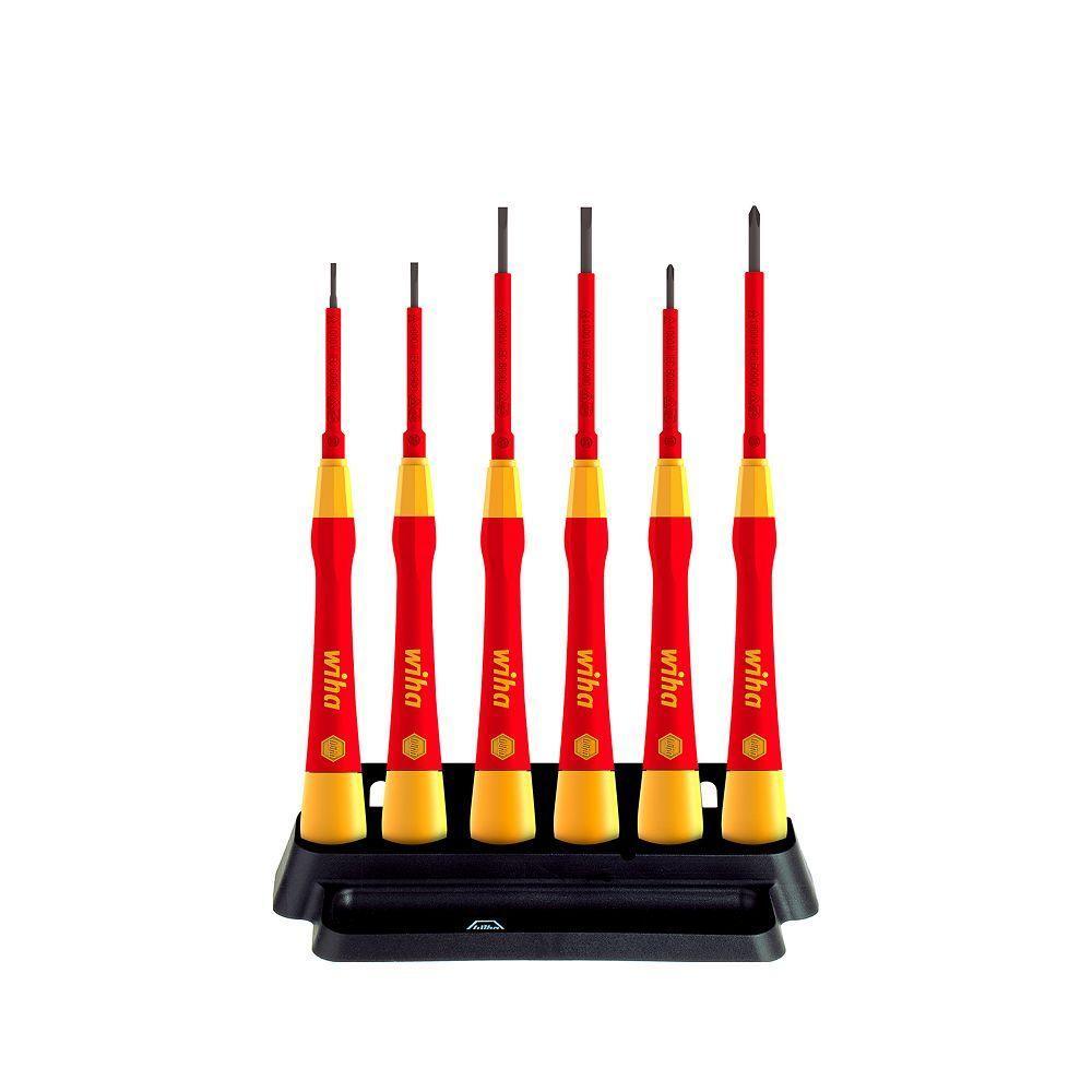 Набор микроотверток PicoFinish® electric Шлиц, Phillips, с держателем, 6 шт 42989 Wiha