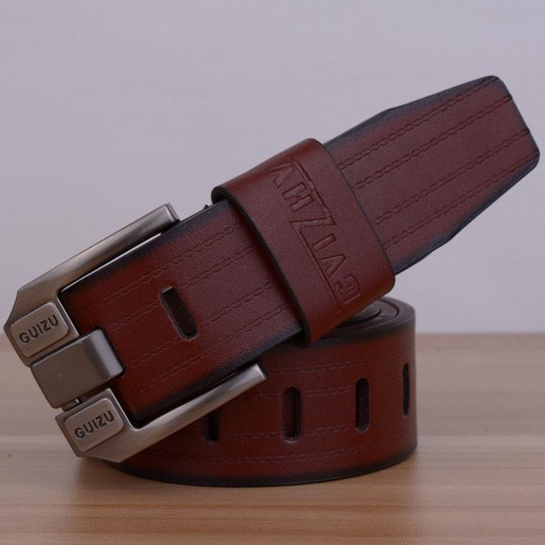 Стильный мужской кожаный ремень. Модель 04146