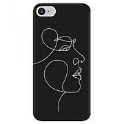 Силиконовый чехол Cool Black iPhone 7 / 8 Лицо