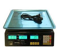 Весы торговые со счетчиком цены Crystal CR 50 kg 6v