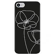 Силиконовый чехол Cool Black iPhone 7 / 8 Маки