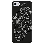 Силиконовый чехол Cool Black iPhone 7 / 8 Faces
