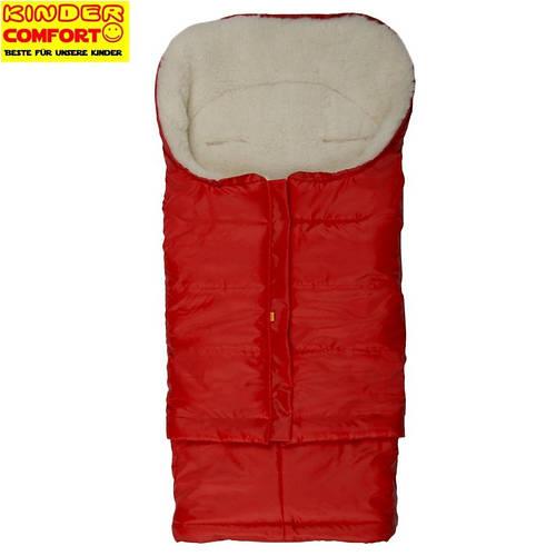 Меховой конверт в коляску и санки Polar (Красный), Kinder Comfort