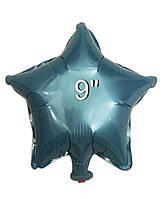 Фольгированный воздушный шар Звезда голубая без рисунка, шары звезды 9 дюйм, Китай
