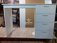 Білий манікюрний стіл на 4 ящики Модель А49, фото 1