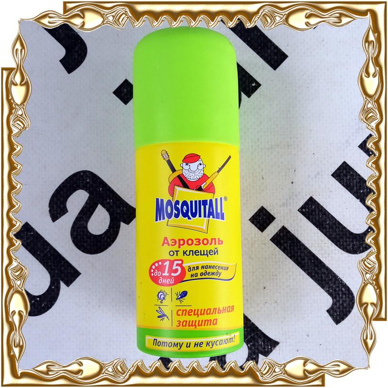 Аерозоль спеціальний захист Mosquitall для нанесення на одяг від кліщів 100 мл./15 днів