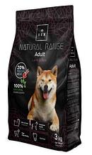 Корм для дорослих собак Rex (Рекс) Natural Range з ягням, 3 кг