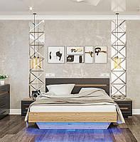 Ліжко 1,6 м Б'янко (Графіт+Артезіан)