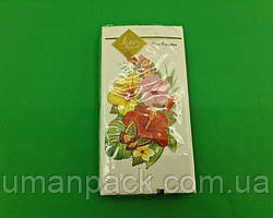 Гарна серветка (ЗЗхЗЗ, 10шт) Luxy MINI Тропічні квіти (2044) (1 пач.)