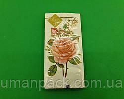 Красивая салфетка (ЗЗхЗЗ, 10шт) Luxy MINI Бутоньерка из роз (2031) (1 пач)