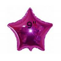 Фольгированный воздушный шар Звезда фуксия без рисунка, шары звезды 9 дюйм, Китай