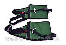 Петлі Береша атлетичні підвісні B3, з ручками для тяги і віджимань Зелений