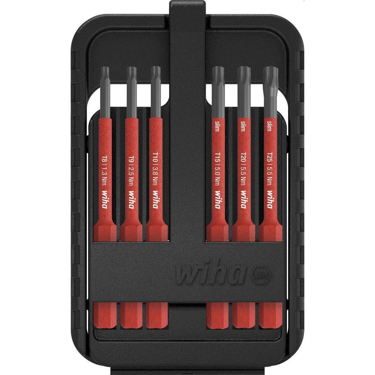 Набор бит slimBit electric slimVario шлиц, 6 шт. в SlimBit box 43153 WIHA