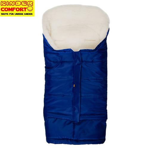 Меховой конверт в коляску и санки Polar (Синий), Kinder Comfort