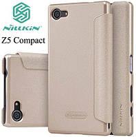 Чехол книжка Nillkin Sparkle Leather Case для Sony Xperia Z5 Compact E5823 Champaign Gold