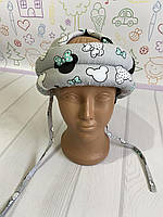 Шлем детский для малыша, детский защитный шлем для ребенка Микки серый