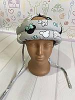 Шолом дитячий для малюка, дитячий захисний шолом для дитини Міккі сірий