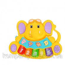 Дитяче іграшкове музичне піаніно 855-28A (Жовтий)