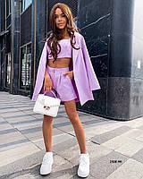 Женский костюм тройка ( Пиджак + Шорты +Топ) 1508 НК