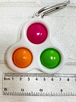 """Гра Pop it Simple Dimple сенсорна антистрес іграшка пупырка """"Трійка 2"""", фото 1"""